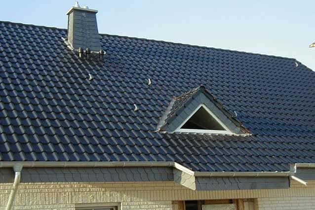 Kleine Dachgaube für Lichteinfall