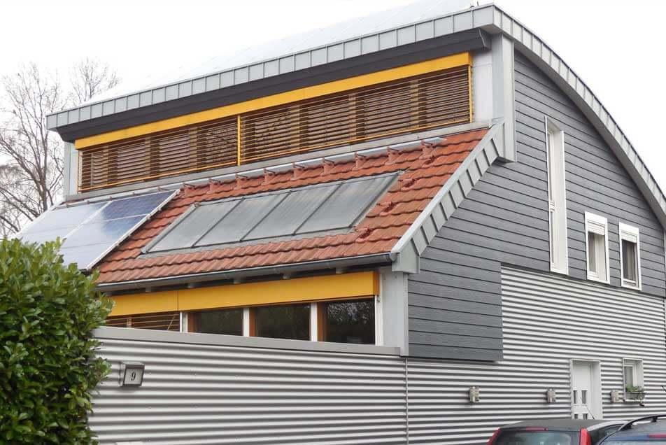 Fassadenbau - Moderne energieeffiziente Fassade